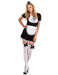 Zimmermädchen-Kostüm für Damen sexy schwarz-weiss