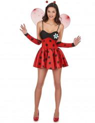 Sexy Marienkäfer-Kostüm für Damen schwarz-rot