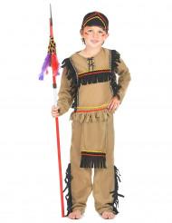 Indianer-Kostüm für Jungen 3-teilig beige