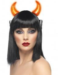 Leuchtende Teufelshörner für Erwachsene, Halloween