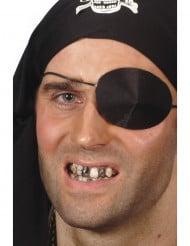Schwarzes Make-up um Zähne zu färben für Erwachsene Halloween