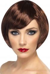 Dunkelblonde Glamour-Perücke für Damen