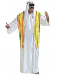 Arabischer-Scheich-Kostüm für Herren weiß-gelb