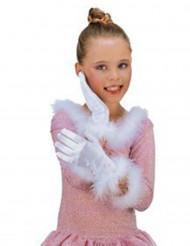 Weisse Prinzessin-Handschuhe für Kinder