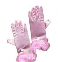 Rosa Prinzessin-Handschuhe für Kinder