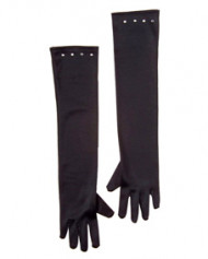 Schwarze lange Handschuhe für Kinder