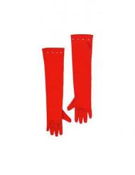 Rote lange Handschuhe für Kinder