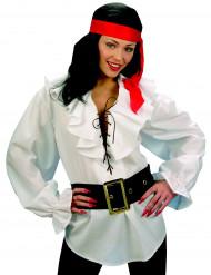 Piraten-Hemd für Erwachsene weiß