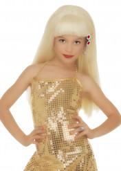 Glamour Perücke blond für Mädchen