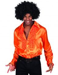 Diskohemd orange für Erwachsene