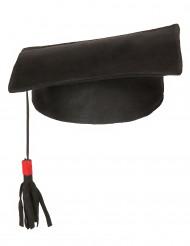 Doktor-Hut für Erwachsene schwarz