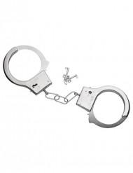 Metall-Handschellen mit Schlüssel