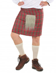 Schottenrock mit Kunstfell für Erwachsene