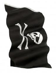 Piratenbanner schwarz-weiss