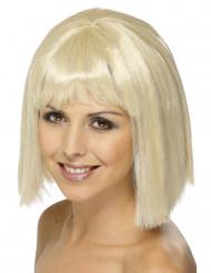 Blonde Perücke für Damen mit Pony