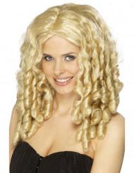 Blonde Star-Perücke für Damen, Locken