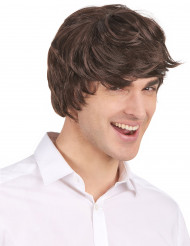Moderne kurze Perücke für Herren, schwarz