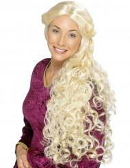 Perücke mit langem blondem Haar für Erwachsene