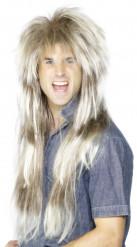 Perücke mit langem blondem Haar