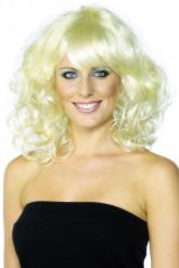 Blonde Perücke für Damen, gelockt