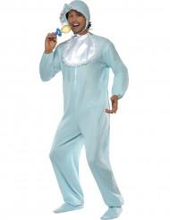 Hellblaues Baby-Kostüm für Herren Overall 2-teilig