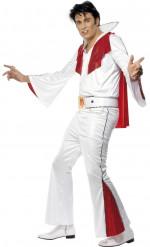 Elvis Presley™- Lizenzkostüm für Herren weiss-rot