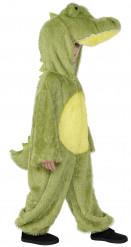 Krokodil-Kinderkostüm gelb-grün-schwarz