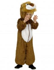 Süßes Löwen-Kostüm für Kinder Overall braun