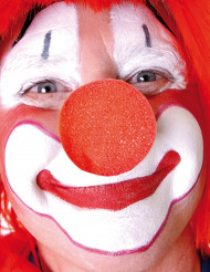 Clownnase aus Schaumgummi rot