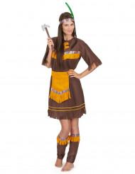 Indianerinnen Damenkostüm bunt