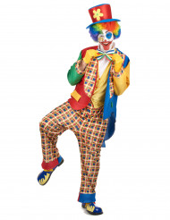 Zirkus-Clownskostüm für Herren Manege bunt