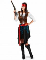 Piraten-Kostüm für Damen 5-teilig