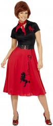 50er Jahre Rock n Roll-Kostüm Rot für Damen