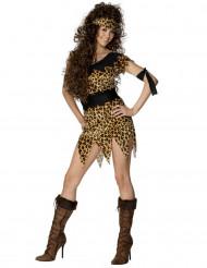 Steinzeit-Kostüm für Damen braun