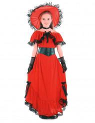 Scarlett-Mädchenkostüm schwarz-rot