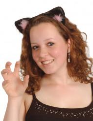 Katzenohren schwarz und rosa