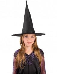 Kinder-Hexenhut für Halloween schwarz