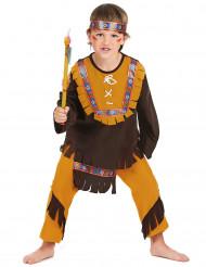 Indianerkostüm für Jungen mit Fransen 3-teilig
