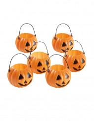 Halloween-Konfektdöschen in Form eines Kürbis