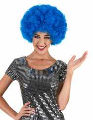 Blaue Disco-Afroperücke für Erwachsene