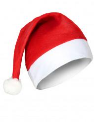 Klassische Weihnachtsmannmütze für Erwachsene rot-weiß