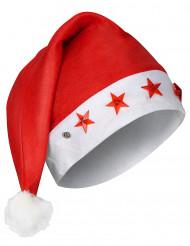 Weihnachtsmütze leuchtend Nikolaus rot-weiss