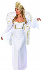 Weihnachtsengel-Kostüm mit Flügeln für Damen