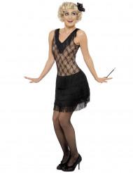 Retro Charleston-Kostüm für Damen schwarz