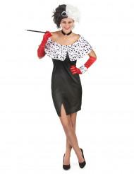 Sexy Cruella-Kostüm für Damen