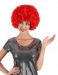 Rote Afro/Disco-Perücke