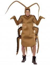 Kakerlakenkostüm für Erwachsene beigefarben-braun