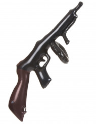 Aufblasbare Gangster-Maschinenpistole Kinder-Spielzeug schwarz-braun