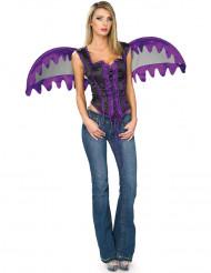 Engels-Kostüm lila für Damen