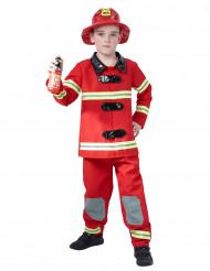 Feuerwehrmann-Kostüm für Jungen Uniform rot-gelb